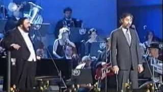 getlinkyoutube.com-Andrea Bocelli and Luciano Pavarotti Medley