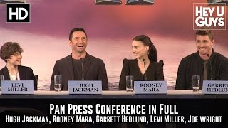 getlinkyoutube.com-Pan Press Conference in Full (Hugh Jackman, Rooney Mara, Levi Miller, Garrett Hedlund)