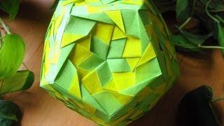 getlinkyoutube.com-Origami ❀ Aquarella ❀ Kusudama