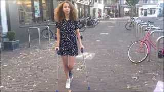 How to go up and down stairs on crutches
