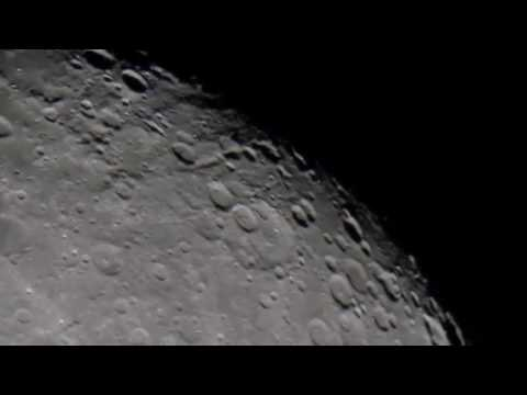 A short close up look at the Moon - Astronomy / Astrophotography With Dobsonian Telescope