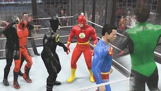 getlinkyoutube.com-WWE 2K15 - DEATHSTROKE VS DEADPOOL VS BATMAN VS SUPERMAN VS GREEN LANTERN VS FLASH