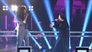 getlinkyoutube.com-The Voice IT | Serie 2 | Battle 1 | Suor Cristina Scuccia Vs Luna Palumbo