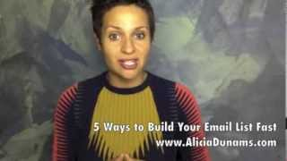 5 Ways to Build an Email List Fast