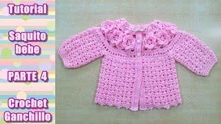 getlinkyoutube.com-DIY Como tejer saquito, sueter, chaqueta, chambrita para bebe en crochet, ganchillo (4/4)