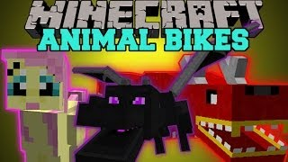 getlinkyoutube.com-Minecraft: ANIMAL BIKES (RIDE THE ENDER DRAGON, CREEPERS, GHASTS, AND MORE!) Mod Showcase