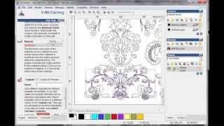 getlinkyoutube.com-create simple V-bit carving tool path in artcam