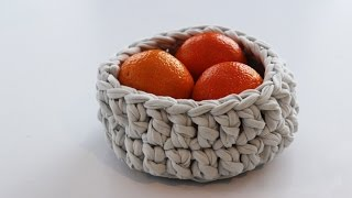 How to Crochet a Bowl From Cotton T-Shirt Yarn