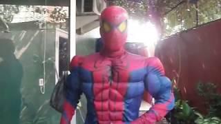 getlinkyoutube.com-Spiderman henshin to Kamen Rider Decade cosplay vid