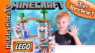 getlinkyoutube.com-Minecraft Lego The Mine Steve Creeper! TNT HobbyFrog 21118 HobbyKidsTV