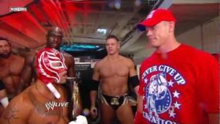 getlinkyoutube.com-Rey Mysterio WWE Championship Celebration Backstage - Raw 7/25/11 [ HD ]