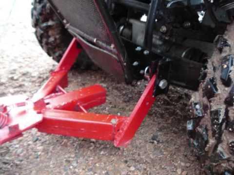 Homemade ATV Plow