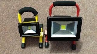getlinkyoutube.com-A look inside a 20W rechargeable LED work light.