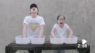 getlinkyoutube.com-Ice Pain Challenge   Ranz & Niana