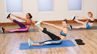 getlinkyoutube.com-10-Minute Flat Belly Workout to Tighten and Tone | Class FitSugar