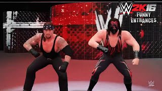 getlinkyoutube.com-WWE 2K16 - Funny Entrances