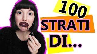 getlinkyoutube.com-100 STRATI di Nutella/Rossetto Liquido! Challenge