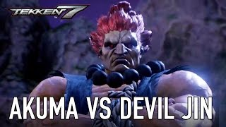 TEKKEN 7 - Akuma VS Devil Jin Játékmenet