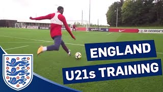 U21s Practise Dribbling, 1v1s and Shooting Ahead of Scotland Match | Inside Training