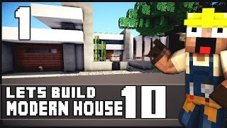 getlinkyoutube.com-Minecraft Lets Build: Modern House 10 - Part 1