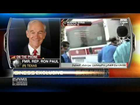 Ron Paul: We're Already Very Much Involved in Syria - Cavuto 4/29/2013