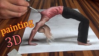 getlinkyoutube.com-Drawing of an anamorphic illusion/ 3D painting