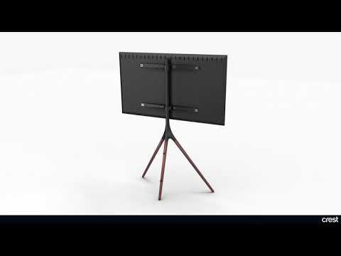 """Crest TV Mount Floor Stand 45""""-65"""" - Aluminium"""