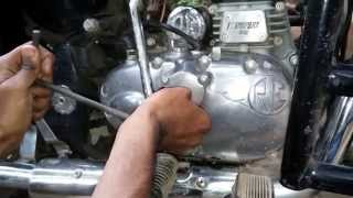 getlinkyoutube.com-Engine oil change in Royal enfield Classic bullet , oil filter replaicing, suction filter cleaning