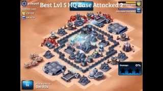 getlinkyoutube.com-Star Wars: Commander - Strongest Lvl 5 HQ Base Design (v1) Attacked