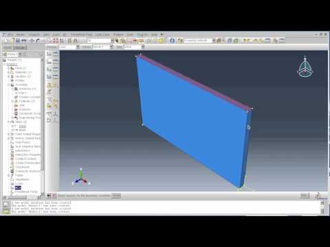 ABAQUS Tutorial - Part 1: Modelling a masonry wall under a blast explosion