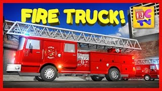 getlinkyoutube.com-Learn About Fire Trucks for Children | Educational Video for Kids by Brain Candy TV