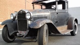 getlinkyoutube.com-oil change (shocking) after sitting for 50 years Ford Model A