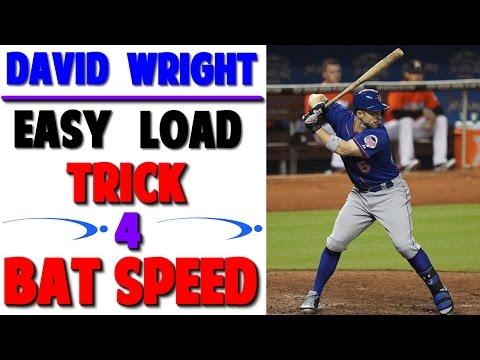 David Wright Load Trick for Bat Speed | Baseball Hitting Mechanics (Pro Speed Baseball)