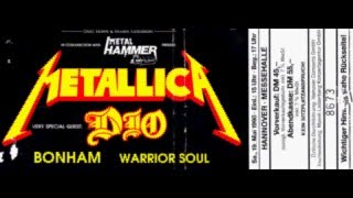 Metallica Live Hannover Messehalle 1990 - 05 - 19