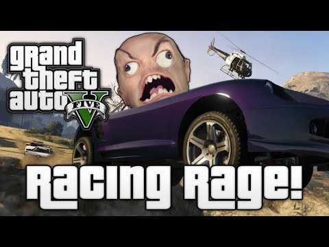 GTA V: RACING RAGE! (Grand Theft Auto 5 Online Funny Moments)