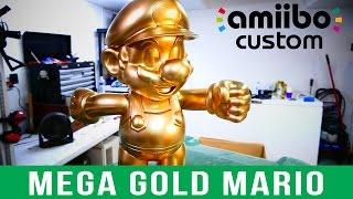 getlinkyoutube.com-GREATEST CUSTOM AMIIBO EVER! - Mega Gold Mario Amiibo