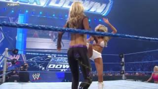 getlinkyoutube.com-Rosa Mendes vs. Kelly Kelly - [SmackDown, 06.24.2010]