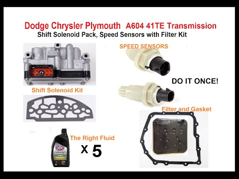 Dodge Chrysler Plymouth Eagle A604 41TE transmission solenoid bad? See BELOW?
