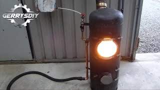 getlinkyoutube.com-Build a New and improved fantastic output Waste Oil Burner.