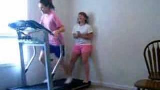 getlinkyoutube.com-Fat Girl Falls On Treadmill