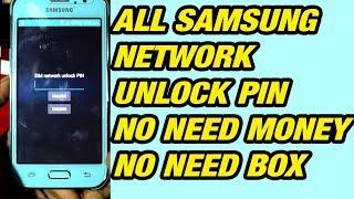 How to unlock network lock pin on Samsung j1,j2,j3,j5,j7,S6,A3,A5 Note Free