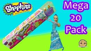 getlinkyoutube.com-Disney Frozen Queen Elsa Unboxes Shopkins Season 4 MEGA 20 Pack - Toy Video Cookieswirlc