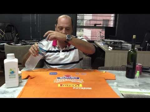 Aplicação do Vidro Liquido na camiseta !
