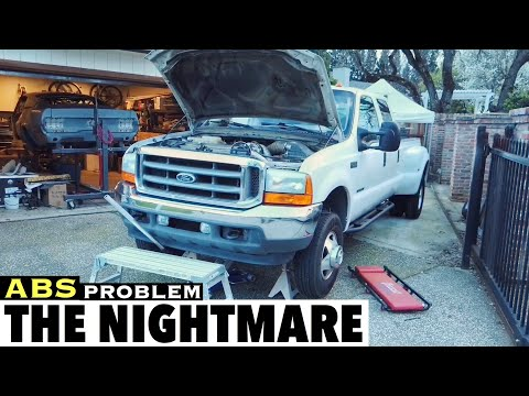 2001 F350 7.3 - ABS Light Issues Fix The nightmare Problem Repair Using Wifi OBD2 Scanner and Iphone