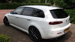 getlinkyoutube.com-White Alfa Romeo 159 Ti V6 Sound