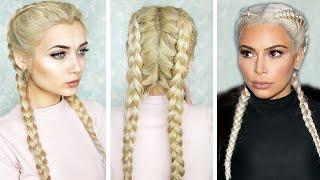 getlinkyoutube.com-How To: Double Dutch Braid || Kim K Inspired
