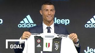 Cristiano Ronaldo unveiled for Juventus - Full press conference width=