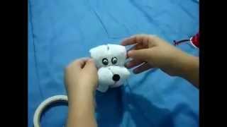 getlinkyoutube.com-Cachorrinho de toalha de mão
