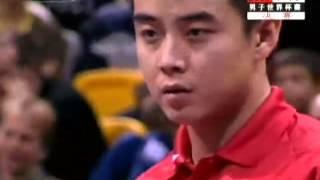 getlinkyoutube.com-Wang Hao vs. Timo Boll 2005--World Cup Table Tennis