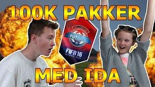 FIFA 16 - 100K PAKKER MED IDA! -  FIFAQack